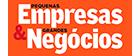 logo da Pequenas Revistas & Grandes Negócios com link para máteria sobre o aporte que o Bom Pra Crédito recebeu do Grupo Globo